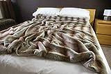 Faux Fur Throws Lancers de Fausse Fourrure Loup ibérique de Luxe - Standard 150 x 180cm