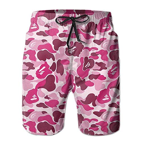 wwoman Pantalones Cortos de Tabla de Surf de Camuflaje Rosa para Hombre...