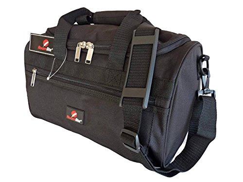 Roamlite Sac Weekend – Compatible Avec Vols Ryanair Comme Deuxième Bagage à Main – Mesures Exactes 35 x 20 x 20 cm – Bagage De Cabine - Super Leger 0.4kg – Parfait Pour Voyages En Avion - RL59K Noir