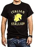 Rocky Balboa T-Shirt für Herren ITALIAN STALLION schwarz Görße L