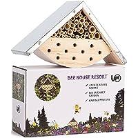 LA JOLIE MUSE Maison d'abeilles pour Abeilles solitaires, hôtel d'insecte pour Les Amants d'abeille, idée Parfaite de Cadeau pour Les Gardiens d'abeille