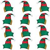 12 x Elfenmütze Hut für Elfen für Kostüm Elfe Waldgeist Elfenhut