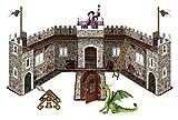 Bullyland 75036 - Spielset, Drachenburg mit grünem Drachen und Zauberer