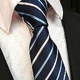 Klassisch Krawatten für Herren Jungen, Mens Jacquard Woven Krawatte Einstecktuch Krawattenklammer Manschettenknöpfe Set in Geschenkbox für Business Hochzeitsgesellschaft ... für Weihnachten Geburtstag