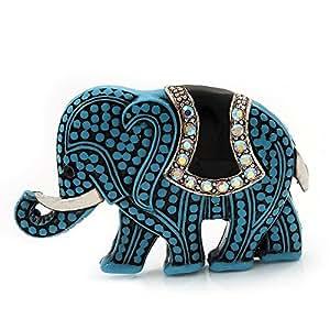 Broche Éléphant acrylique bleu clair
