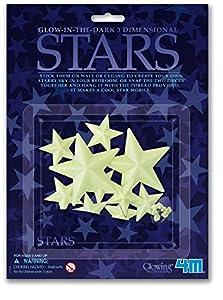 4M - Glow 3D Stars, decoración fosforescente (004M5425)