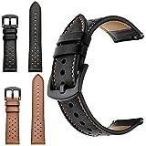 J.ella cinturino cinturino orologio di ricambio in pelle, cinturino regolabile impermeabile in vera pelle cinturino per uomo donna orologio da polso per galassia samsung orologio 42 / 46mm