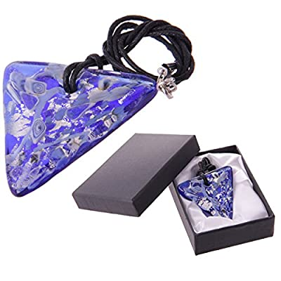 Triangular Vivid Glass Necklace with Gift Box