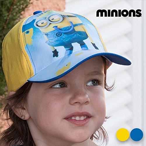 Minions Baseball Kappe für Kinder mit Klettverschluß, 54-56cm Türkis