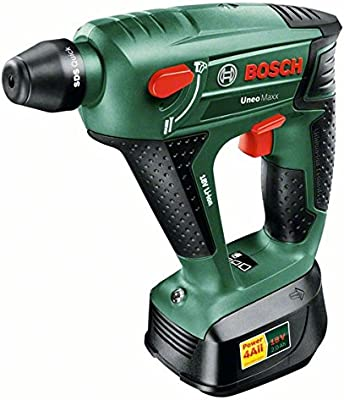 Bosch Uneo Maxx - Martillo rotatorio (18 W, 18 V) color verde