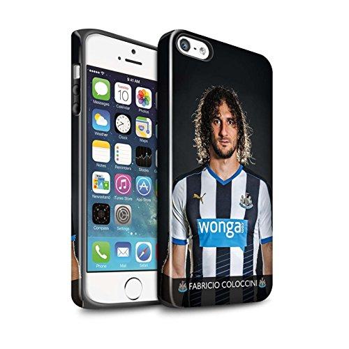 Offiziell Newcastle United FC Hülle / Glanz Harten Stoßfest Case für Apple iPhone SE / Pack 25pcs Muster / NUFC Fussballspieler 15/16 Kollektion Coloccini