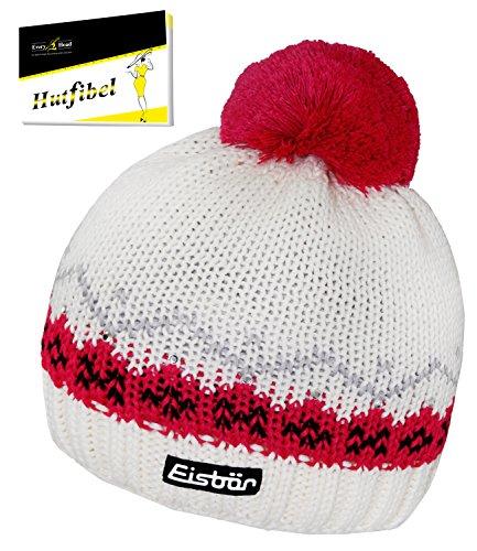 Eisbär Bommelmütze Pudelmütze Sportmütze Damenmütze Wintermütze Strickmütze mit Fleecefutter (EB-80024-W16-DA0-400-OS) in Pink,...