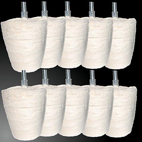 10 x Custom Polish Embout conique polissage de polissage de polissage conique pour jantes polir ou traiter de pâte à polir