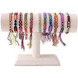 Pulseras de la amistad de Macramé hechas a mano varios colores