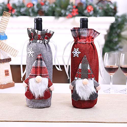 Fundas para botellas de vino de Navidad