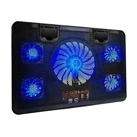 Color You Laptop kühler Pad für 14,15,16,17 zoll,Energiespare Sehr Leise Gaming Cooling Pad Ständer with 2 USB-Anschlüssen und 5 LED Ruhige Lüfter