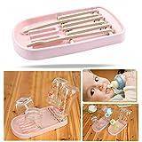 OFKPO Klappbarer Trockenständer für Babyflaschen,Becher und Zubehör(Rosa)