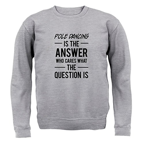 pole-dancing-is-the-answer-unisex-sweat-gris-xxl