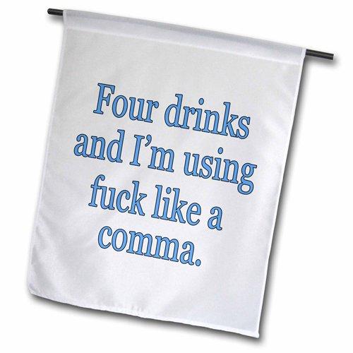 3drose FL _ 171972_ 5,1cm Vier Getränke und ich bin mit Fuck wie ein Comma, blau