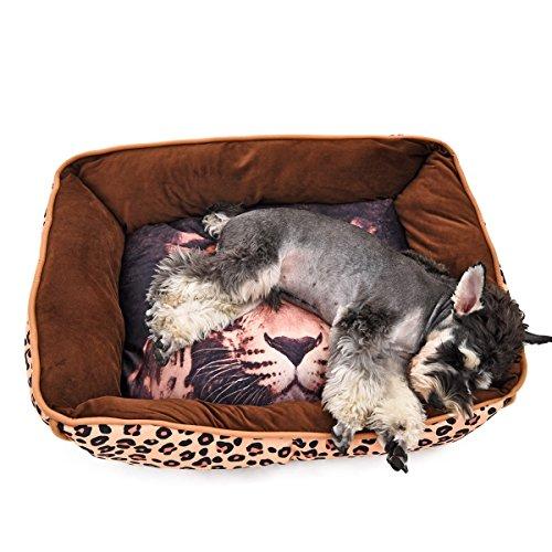 Haoweiwei Cómodo Animal Impreso Perro Nido