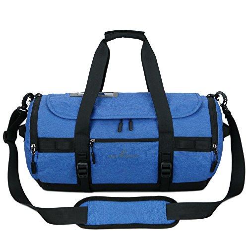 Outry, Borsone da Viaggio Impermeabile, in Nylon, Leggero, per Sport, Palestra, con Scomparto per Scarpe, 30 l, Blue