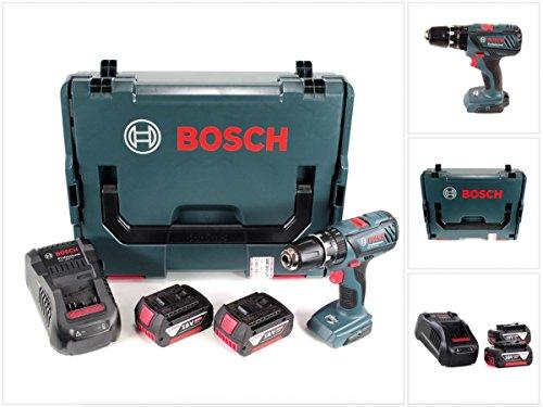 Preisvergleich Produktbild Bosch GSB 18-2-Li Plus Professional 18 V Akku Schlagbohrschrauber in L-Boxx mit 2x GBA 5,0 Ah Akku + Ladegerät