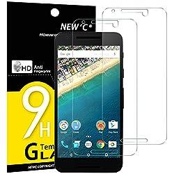 NEW'C PanzerglasFolie Schutzfolie für LG Google Nexus 5X, [2 Stück] Frei von Kratzern Fingabdrücken und Öl, 9H Härte, HD Displayschutzfolie, 0.33mm Ultra-klar, Displayschutzfolie LG Nexus 5X