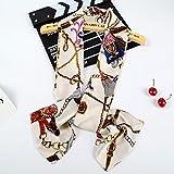 Decoration sj Sciarpa lunga lunga della sciarpa della sciarpa del raso (150 * 18cm), zaino beige