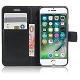 Microsonic 11276 Cüzdanlı Deri iPhone 7 Plus Kılıf, Siyah