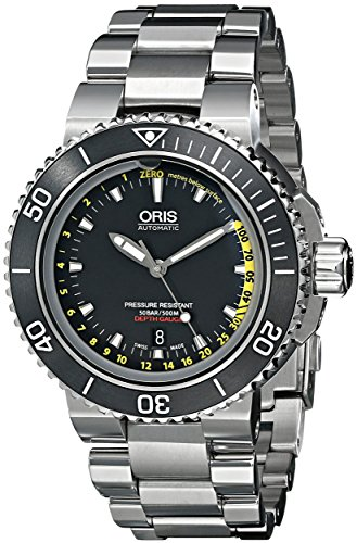 Oris Aquis Depth Gauge Homme 49mm Automatique Date Montre 73376754154MB