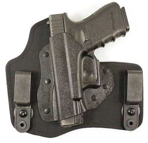DeSantis Invader Inside the Waistband Holster Left Hand Glock 17, 19, 22, 23, 26, 27, 36 Kydex and Nylon Black by