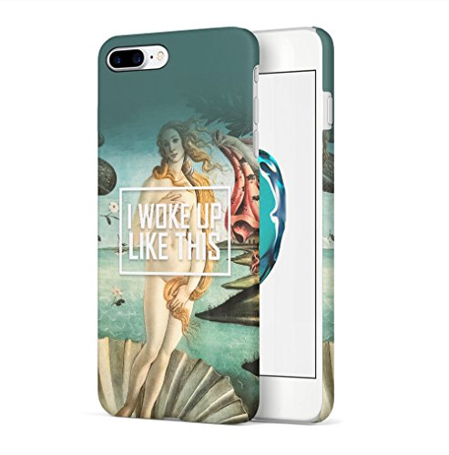Maceste Vintage I Woke Up Like This Kompatibel mit iPhone 7 Plus/iPhone 8 Plus SnapOn Hard Plastic Phone Protective Fall Handy Hülle Case Cover -