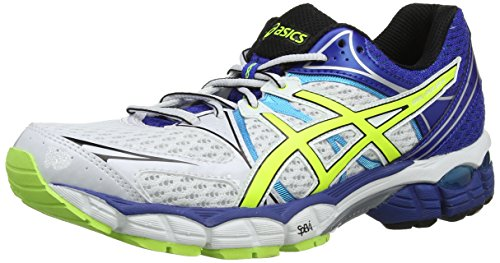 Asics Gel-Pulse 6, Scarpe Sportive, Uomo, Bianco (White/Flash Yellow/Blue 107), 46