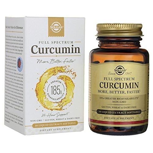 Solgar Full Spectrum Cúrcuma 185x Cápsulas blandas - Envase de 30