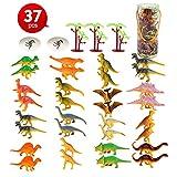 LBLA 37PCS Mini Dinosaure Jouet Le Monde des Dinosaures Dinosaures Figurine Modèle Monde Jurassique Jouets Décoration de Fête Souvenirs Educatif Jouets pour Enfants Garçons