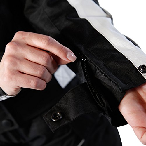 Lemoko Damen Textil Motorradjacke schwarz Gr XXL - 6