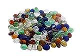 ReneReit Pebbles Decorative Glass Half Round Multi 240 g