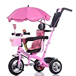 Trikes- Kids Baby Carriage Childrens Tricycle Bicycle 1-6 Years Old Large Baby Girls Car 3-wheeler