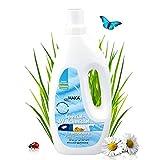 HAKA Flüssigwaschmittel für Microfaser & Funktionstextilien I 1 Liter I Funktionskleidung, Sportbekleidung & Mikrofaser reinigen I Spezialwaschmittel