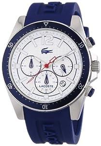Lacoste Seattle - Reloj de cuarzo para hombre, con correa de silicona, color azul de Lacoste