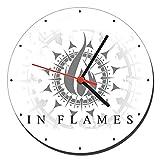 MasTazas In Flames Wanduhren Wall Clock 20cm