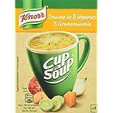 Knorr Soupe Instantanée Cup a Soup Douceur de 8 Légumes 48g 3 Sachets - Lot de 6