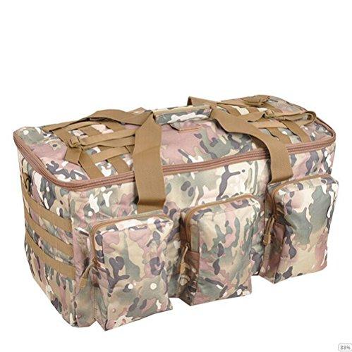 GOUQIN Outdoor Rucksack Klassische Mode Outdoor Schultern Package Tour Klettern Taschen King Size Gepäck. 2 Camouflage