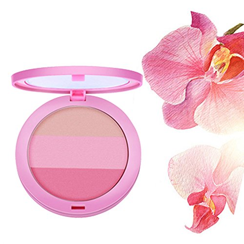 LHWY 2016 Beauty Face 3 Couleur Blush Maquillage Baked Cheek Blush Palette Colorete Sleek Cosmetic visage Ombre Press Poudre