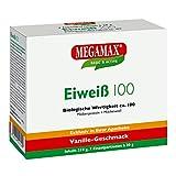 Megamax Eiweiss Vanille. Molkenprotein + Milcheiweiß Eiweiß Protein mit Biologischer Wertigkeit ca.100. Für Muskelaufbau und Diaet. Inhalt: 7 x 30 g