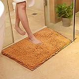 Stuoia del bagno della toletta della stuoia antiscivolo Tappetino da bagno assorbente eccellente della moquette del tappeto della cucina per il salone Tappeto del bagno 50X80CM (20x31inches) marrone