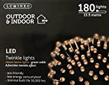 Lumineo Indoor & Outdoor LED Twinkle Lights 180 13.5M LED's - Warm White by Lumineo