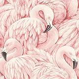 Rasch Vlies Tapete - Größe: 0,53 x 10,05 m - Farbe: pink, rosa, violett, lila - Stil: Muster & Motive (modern)