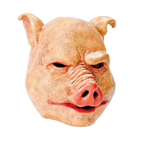 Rubie s BM370-Maske Schwein Latex, Einheitsgröße