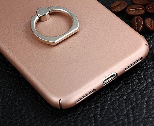 JIALUN-Telefon Fall Für Apple IPhone 7 Cover Case, helle Oberfläche Thin & Light Weight Kunststoff hart schützende Rückseite mit Finger Ring Stand ( Color : Red ) Black